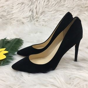 Ivanka Trump black black suede velvet pumps 7.5